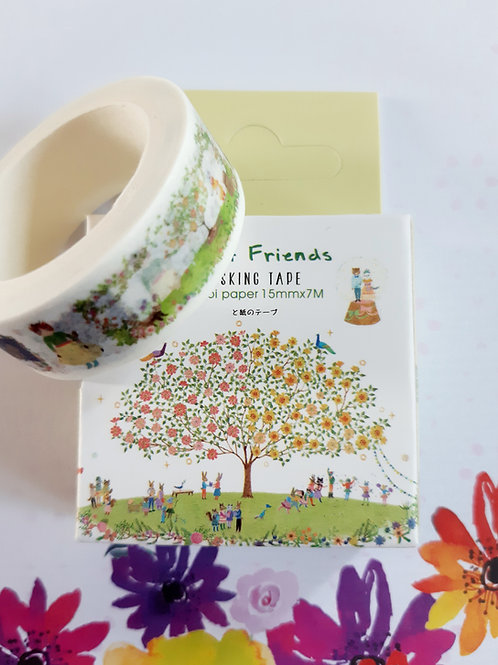 Forest friend masking tape