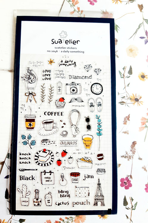 SUATELIER STICKERS - no. 1046 : a daily something