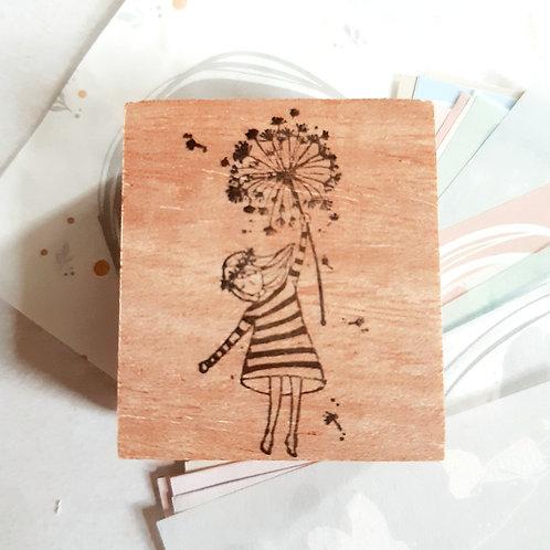Rubber Stamp - Original Black Milk Project - Dandelion