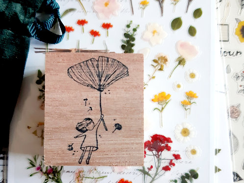 Rubber Stamp - Original Black Milk Project - Gingko Girl