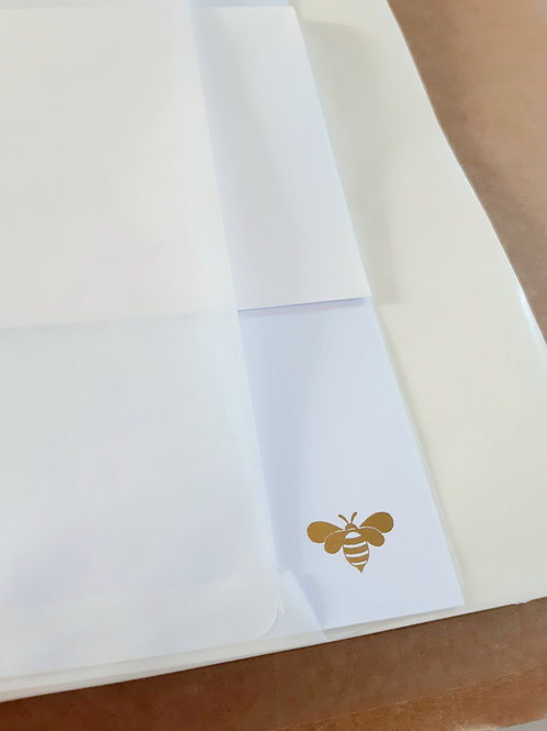 Bee Writing Set - metallic foil