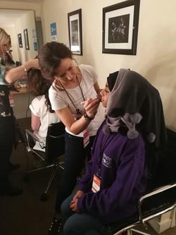 Being pampered behind the scenes