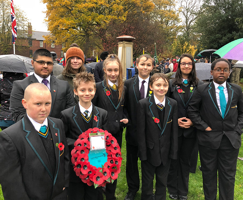 LWA students at Bramley Remembrance Service- 11th November 2018