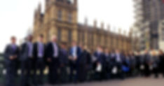 White Rose Academies Trust's Student Leadership Group outside The Houses of Parliament, London