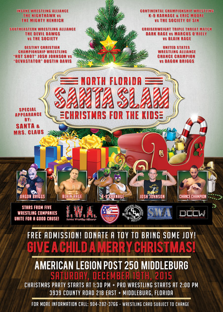 Santa Slam: Christmas for the Kids - USWA helps support the cause!