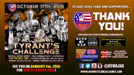 USWA: Tyrant's Challenge results!