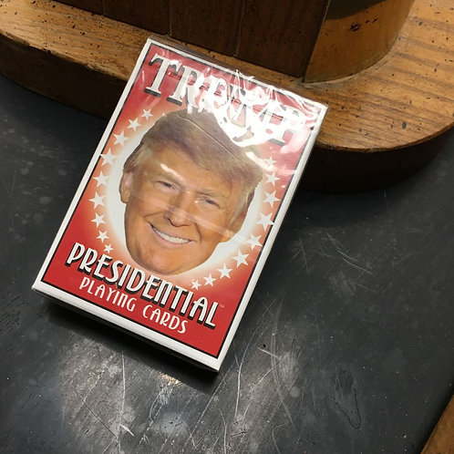 deck of president DonaldTrump playing cards.
