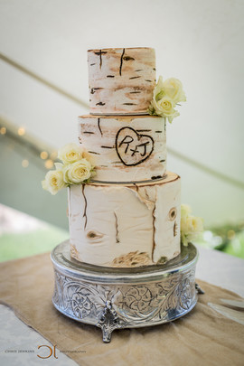 Blue Bay Lodge, Saldanha Bay, Small intimate tented reception with a out of this world wedding cake.
