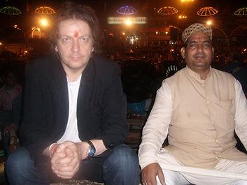 Adam & Pt. Shukla in Varanasi