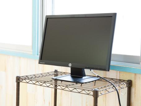 スタジオAにモニターを設置しました