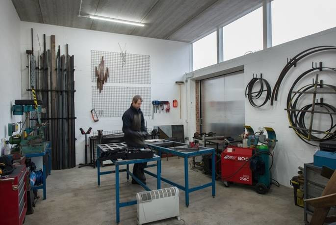 Image - a maker-space in High House studios, London.