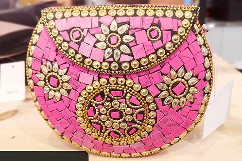 Pink Mosaic Clutch