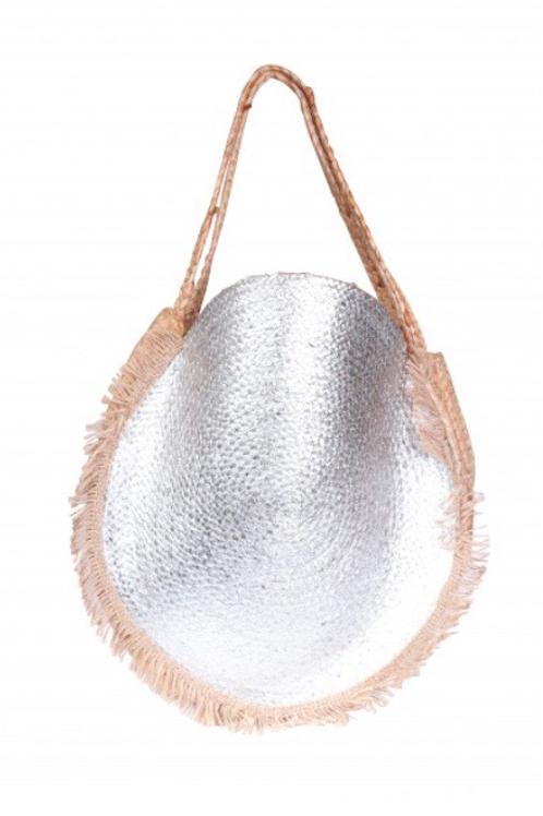Metallic Silver Beach Bag
