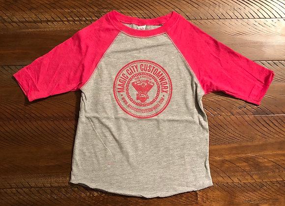 Kids Pink Raglan Tshirt