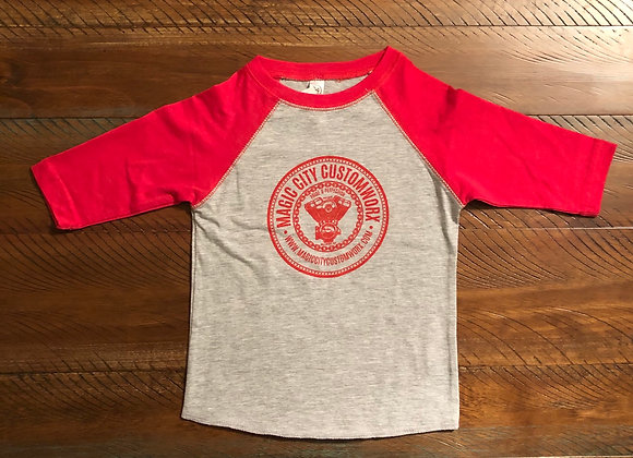 Kids Red Raglan Tshirt