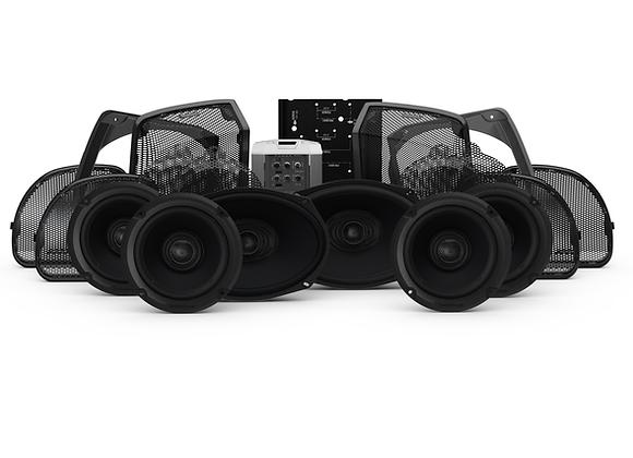 Rockford Fosgate 2014+ Harley RoadGlide/StreetGlide 4 Speaker & Amp kit