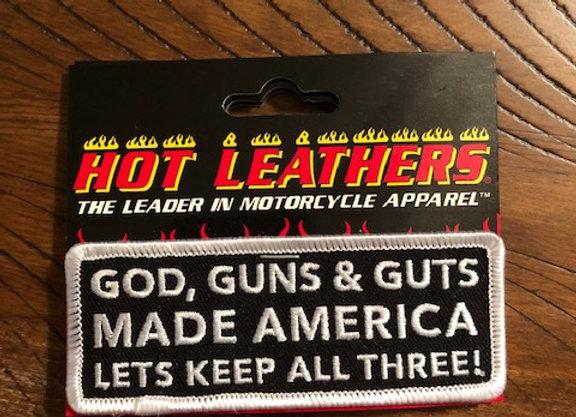 God, Guns & Guts Patch