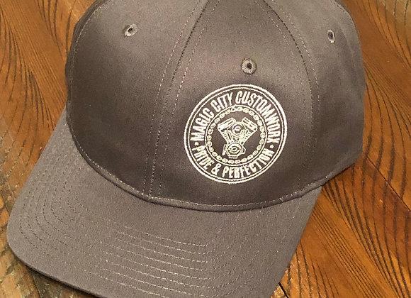 Dark Gray Curved snapback