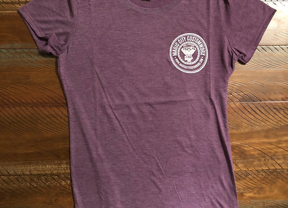 Ladies Vneck Purple Tshirt