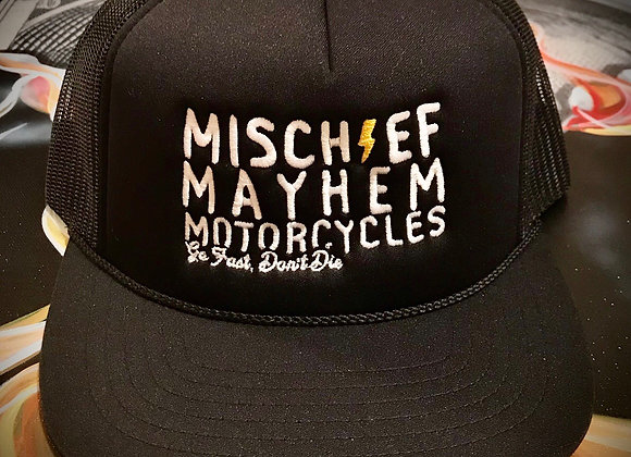 Mischief  Mayhem Motorcycles Foamie Trucker Hat