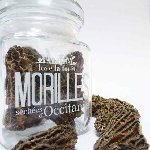 Dried morels 10g, two formats