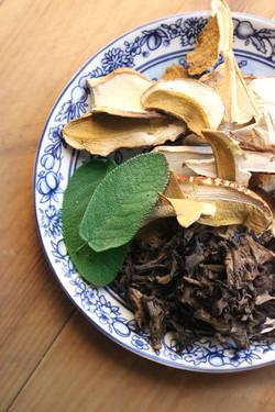 dried ceps porcini black trumpets