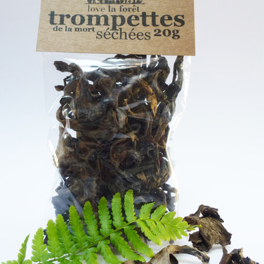Dried black trumpets, small sachet, €4.90