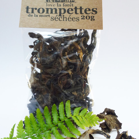 Dried black trumpets, small sachet, €4.90