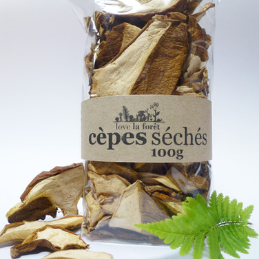 Dried ceps, large sachet, €24.90