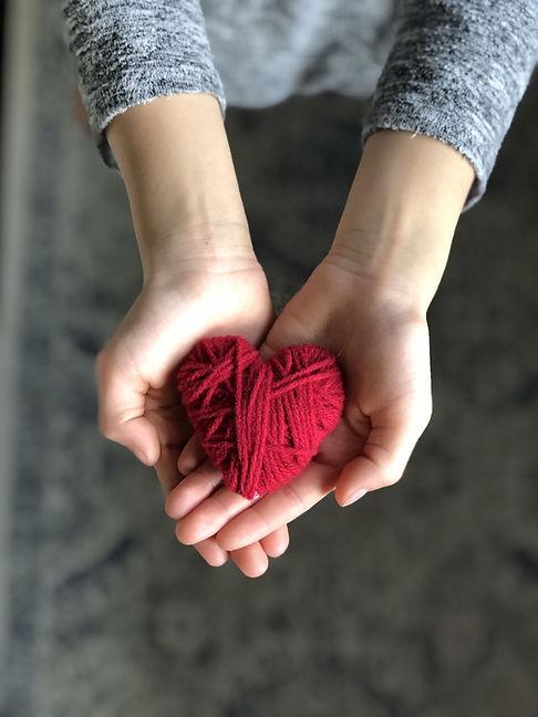 Yarn Wrapped Hearts - Easy Valentine Cra