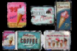 classic ice cream &gelato signs