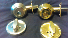 Deadbolts installed for as low as 85.00 + tax