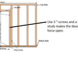 "Kick plate with 3 "" screws"