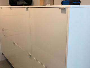 Office furniture lock installation