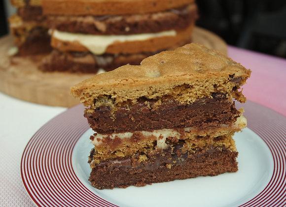 Bolo Brownie n'Cookie