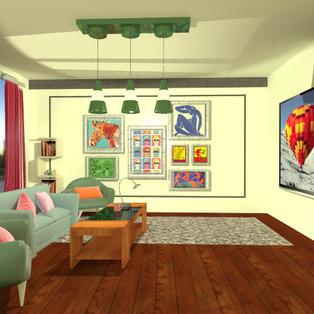 Living Room 3d Modeling