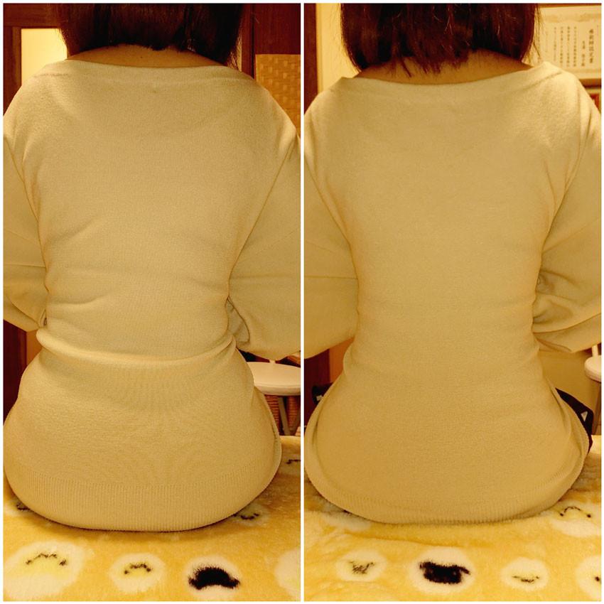 仙台の女性専門整体院おすすめコース肩こりとウエストのくびれの写真