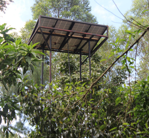 Elevated solar panel platform