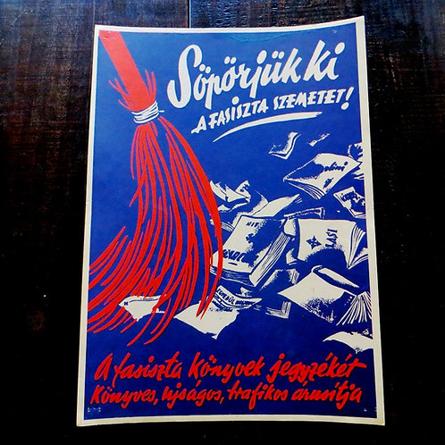 Poster Hungary Reproduction Sweep Nazi Scum 1984