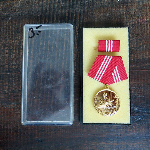 Medal DDR Long Service In Fighting Groups Of The Working Class Gold 15 Years
