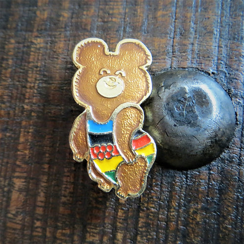 Pin Soviet Russia Sports Olympic Games Moscow