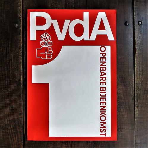 Poster Netherlands Original Public Meeting PvdA
