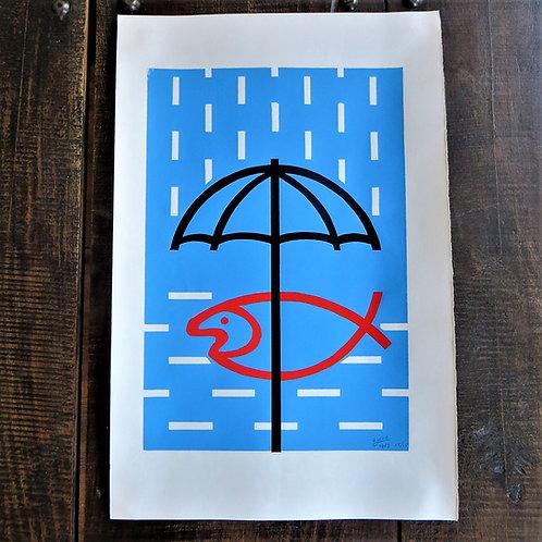 Poster Netherlands Original Litho Enviroment 1983 Signed