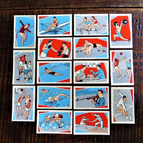 Matchbox Label Soviet Russia Various Sports Set