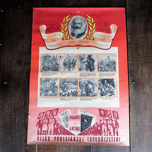 Poster Hungary Original Karl Marx