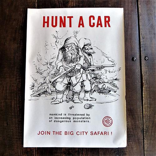 Poster Netherlands Original Hunt A Car 1970