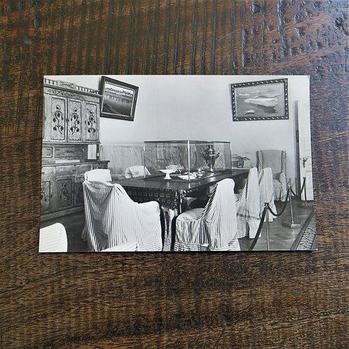 Postcard Soviet Russia Lenin Dining Room Lenin's house.