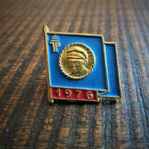 Pin DDR Pin Young Pioneers Blue Flag 1976