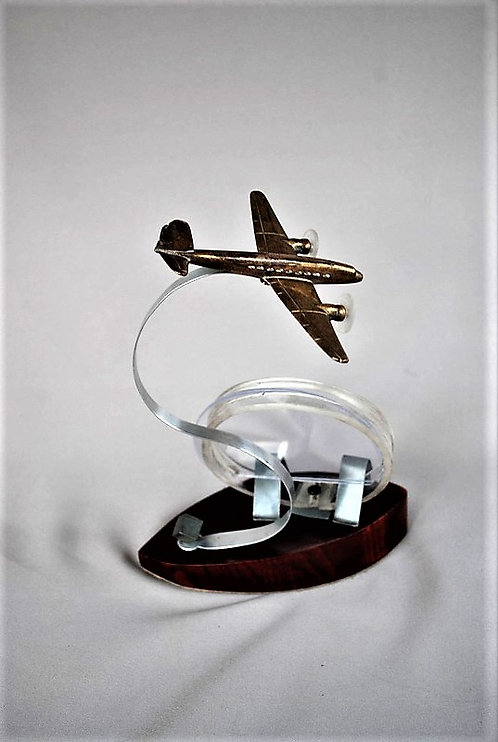 Bronze Model Plane With Picture Frame