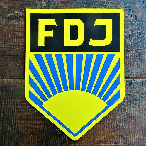 Wallpiece DDR Cardboard FDJ Logo